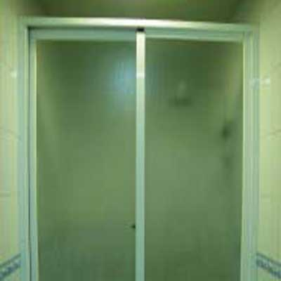 Shower Door - Application of Tilara Embossed Sheet