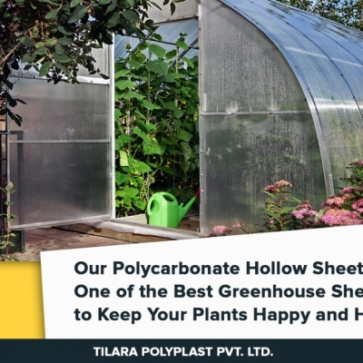 Our POLYCARBONATE HOLLOW SHEET is one of the best Greenhouse Sheet  to keep your plant HAPPY & HEALTHY.